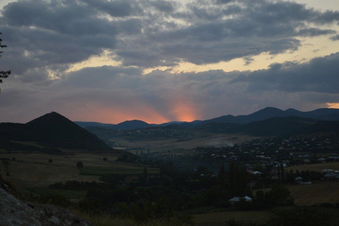 Закат в конце дня