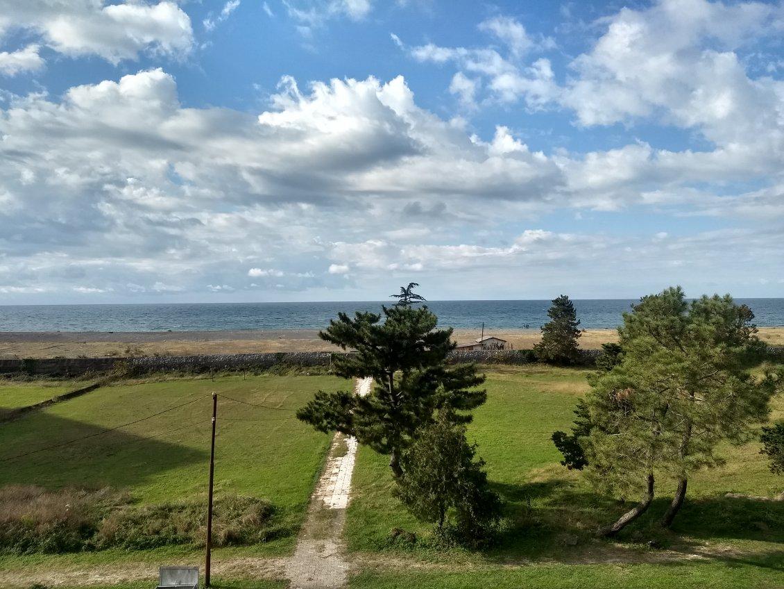 Вид на море из дома