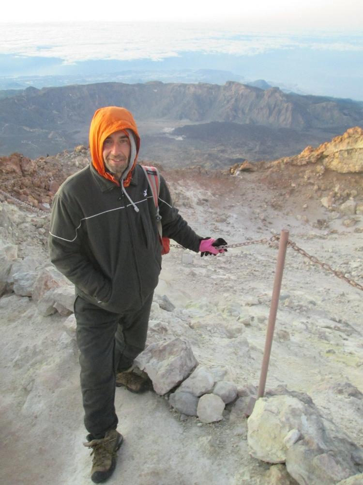 Я у кратера вулкана Тейде
