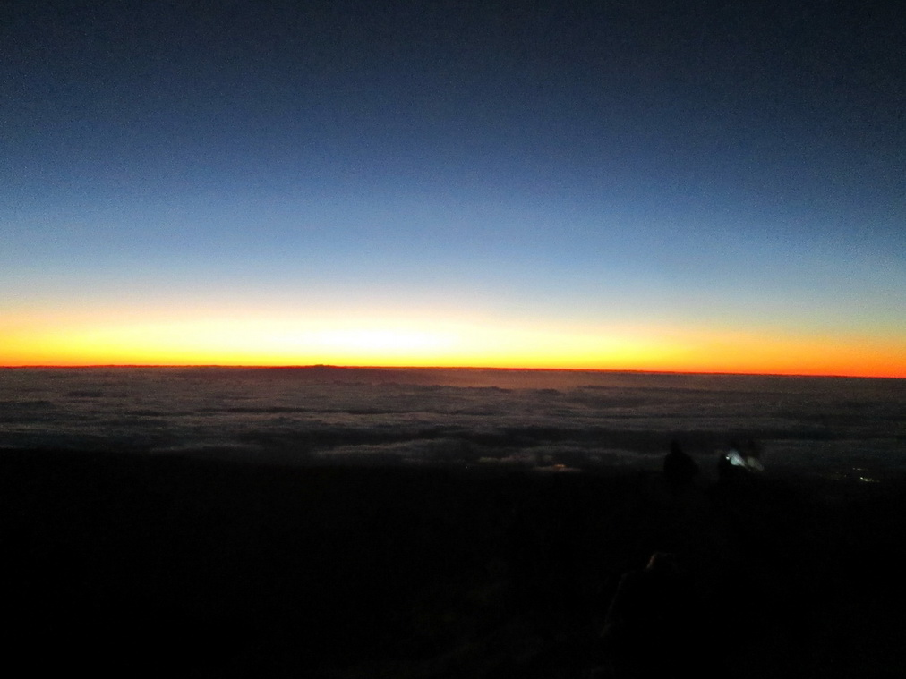 Восход солнца на вершине Тейде