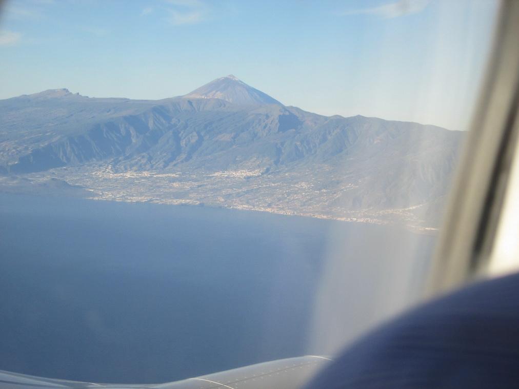 Вулкан Тейде с самолёта
