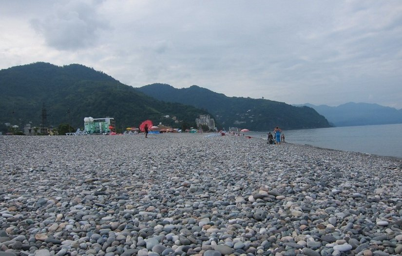 Пляж в Гонио