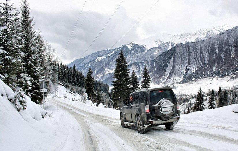 Дороги в Грузии зимой