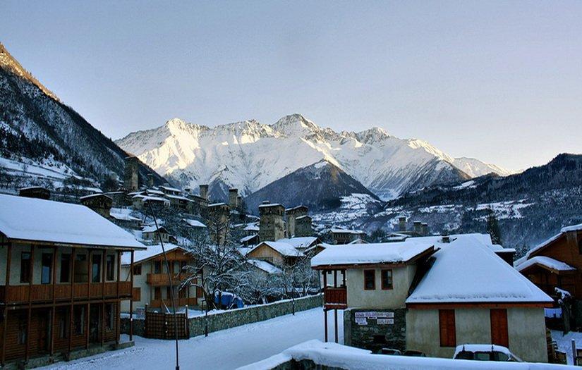 Фото Местии зимой