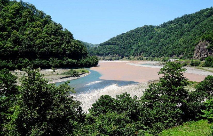 Слияние двух рек: Ачарисцкали и Чорохи