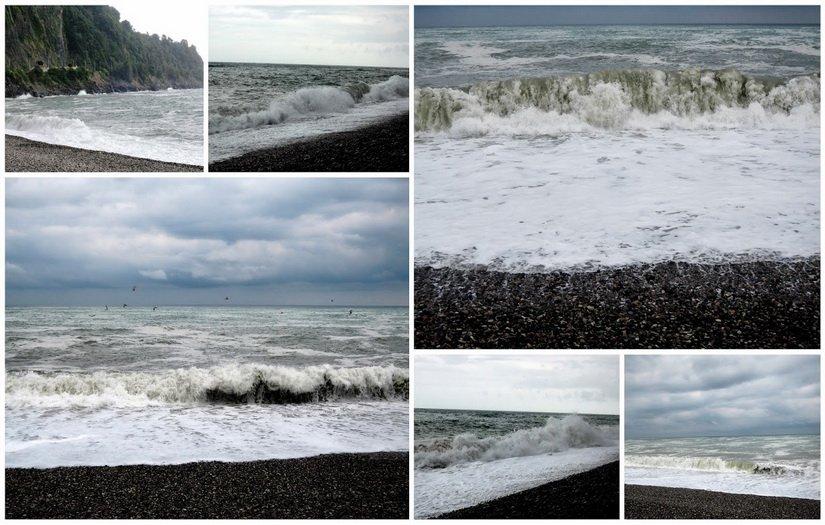 Небольшой шторм на море