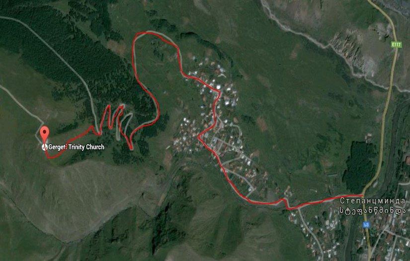 Карта пешего маршрута к Троицкому храму