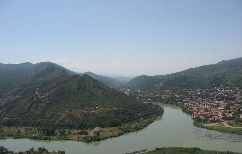 Слияния рек Куры и Арагви