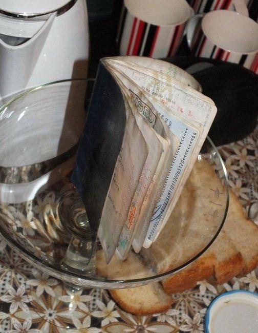 Паспорт вытащенный из лужи
