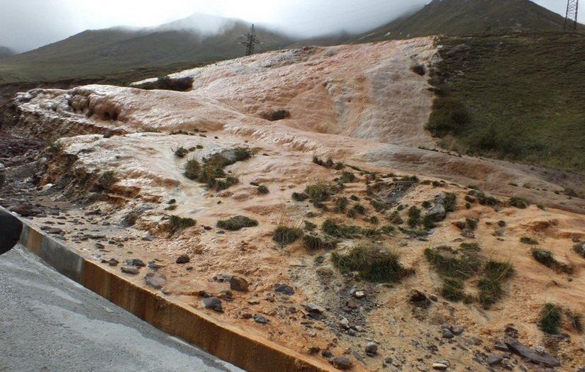 Выход минеральной воды из земли