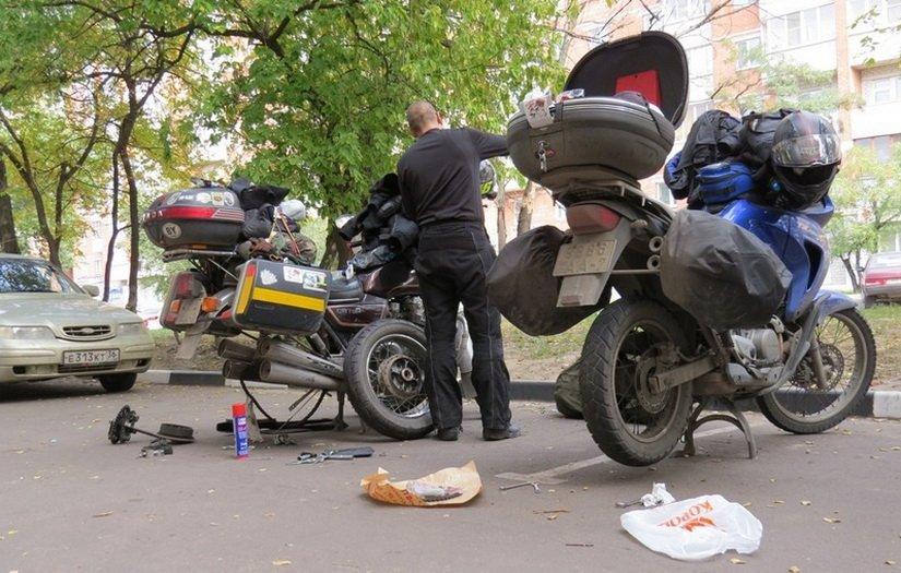 Чиним мотоцикл
