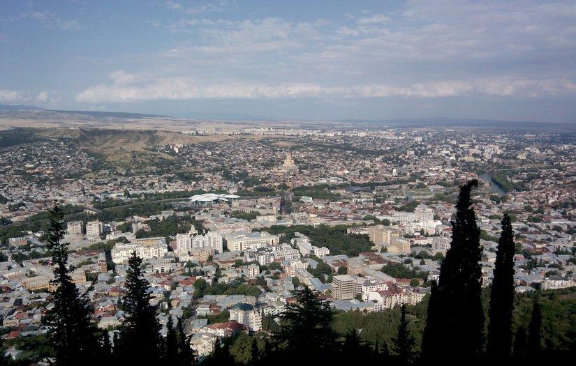 Тбилиси с высоты птичьего полёта