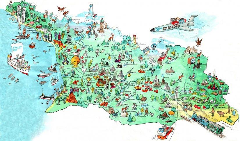 Туристическая карта Грузии