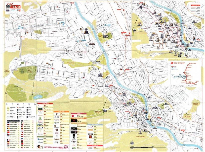 Центр Тбилиси на карте