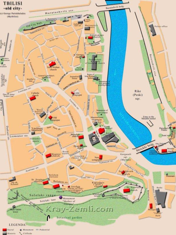 Старый Тбилиси на карте