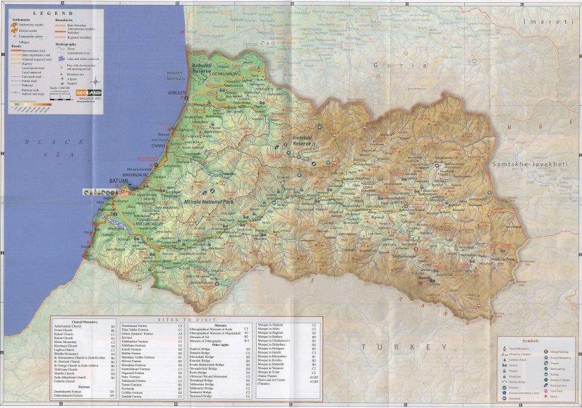 Аджария на карте Грузии