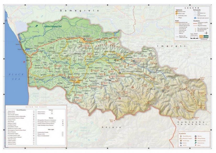 Туристическая карта Гурии