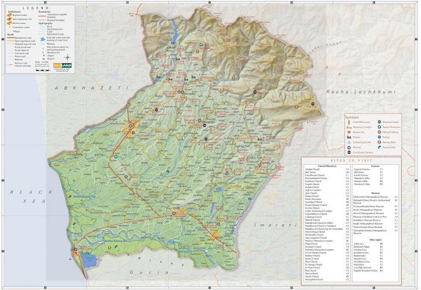 Туристическая карта Самегрело