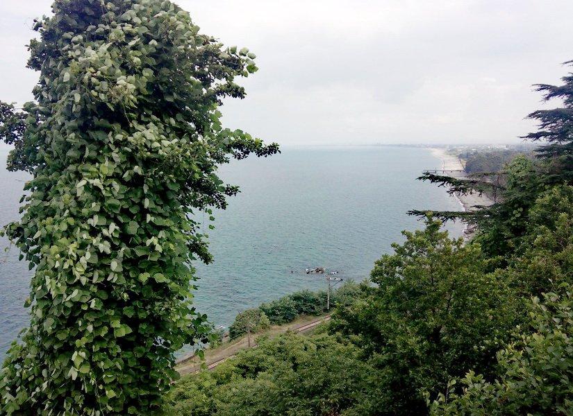 Вид на море с вершины крепости